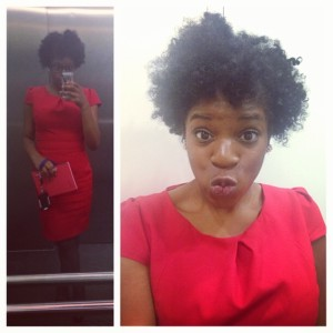 red dress twist out